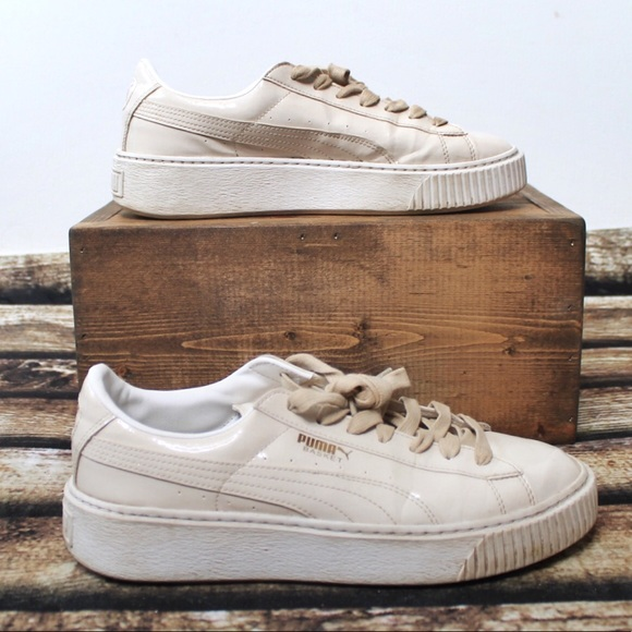 Puma Off White Leather Sneaker Low Top Shoes